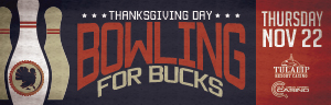 Play slots at Quil Ceda Creek Casino to enter Bowling for Bucks on Thursday, November 22 - located just north of Lynnwood on I-5!