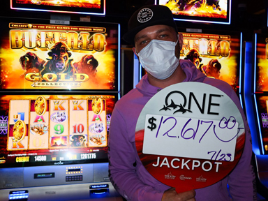 McCade D. won $12,617 playing Buffalo Gold at the Quil Ceda Creek Casino only 5 minutes from Everett.