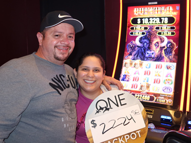 Orotina G. won $2,224 playing Buffalo Xtreme at the Quil Ceda Creek Casino only 5 minutes from Everett.