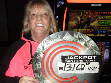 Play slots at Quil Ceda Creek Casino north of Bellevue and Bothell on I-5 like Patricia S. hitting a big jackpot on Big 5 Safari!