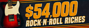 Image of the For $54,000 ROCK 'N' ROLL RICHES promotion, February at Quil Ceda Creek Casino