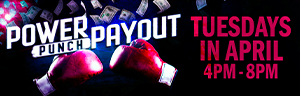Throw a knockout punch to win your share of $27,500 on Tuesdays in April! Every 30 minutes a winner will be chosen for a one-two punch at cash prizes at the New Quil Ceda Creek Casino.