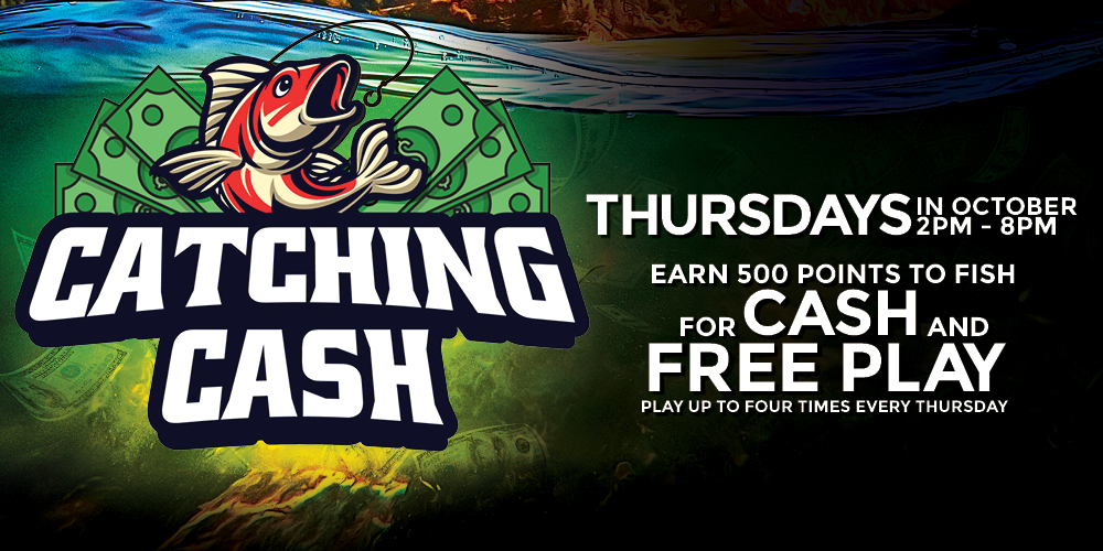 Join us at the Quil Ceda Creek Casino for The Catching Cash promotion on Thursdays in October only 45 minutes north of Seattle.