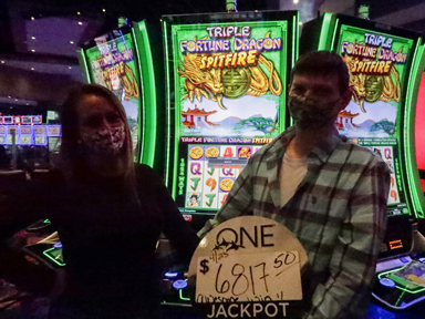 Evan R. won $6,817 playing Triple Fortune Dragon - Spitfire at Quil Ceda Creek Casino.