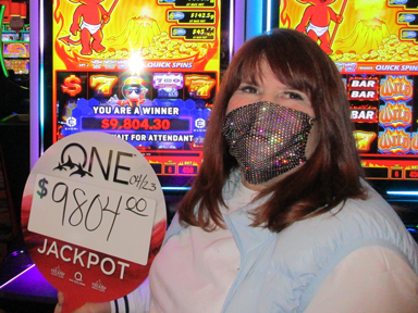 Faith T. won $9,804 playing Smokin' Hot Stuff - Jackpot Respins at Quil Ceda Creek Casino.