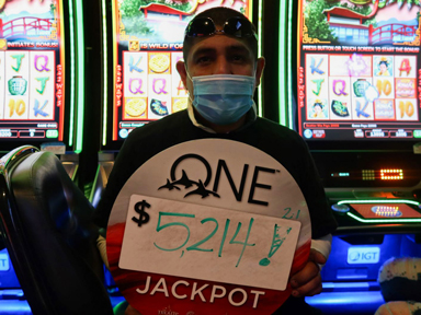 Julio M. won $5,214 playing Triple Fortune Dragon - Unleashed at Quil Ceda Creek Casino.