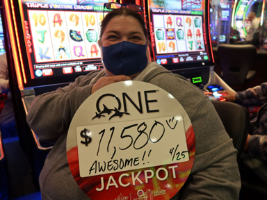 Leah D. won $11,580 playing Triple Fortune Dragon-Unleashed at Quil Ceda Creek Casino.