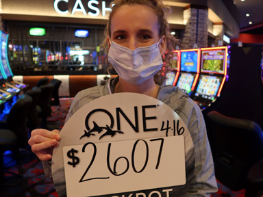 Shana F. won $2,607 playing Triple Fortune Dragon-Unleashed at Quil Ceda Creek Casino.