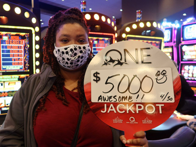 Sharaana H. won $5,000 playing Mega Meltdown at Quil Ceda Creek Casino.