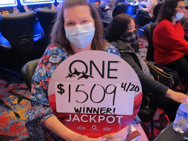 Sharon B. won $1,509 playing Buffalo at Quil Ceda Creek Casino.