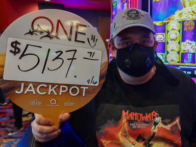 Stephen P. won $5,137 playing Lunar Festival at Quil Ceda Creek Casino.