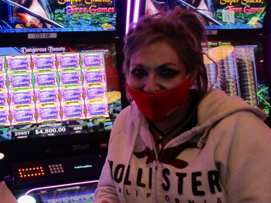 Tanya E. won $4,800 playing Dangerous Beauty at Quil Ceda Creek Casino.