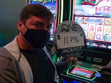 Tony B. won $11,796 playing Triple Fortune Dragon - Unleashed at Quil Ceda Creek Casino.
