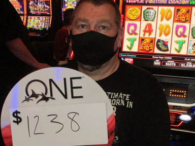 Tulsa H. won $1,238 playing Triple Fortune Dragon - Unleashed at Quil Ceda Creek Casino.