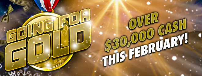 At Quil Ceda Creek Casino just north of Bellevue near Marysville, WA on I-5 you can play Going for Gold in February!