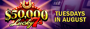 Nine LUCKY WINNERS will win up to $1,500 every Tuesday at the Q