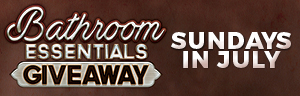 Play slots at Quil Ceda Creek Casino near Everett, WA on I-5 Sundays in July to get in the Bathroom Essentials Giveaway!
