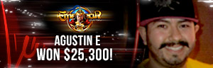 Agustin E. won $25,300 playing Emperor Mystery