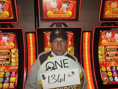 Alejandro T. won $1,361 playing 88 Fortunes at the Quil Ceda Creek Casino located in Marysville just North of Seattle.