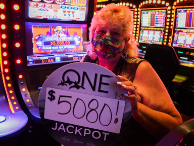 Debbie D. won $5,080 playing Wild Wild Gems at Quil Ceda Creek Casino North of Everett, Washington.