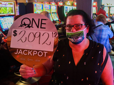 Gretchen S. won $2,092 playing Coyote Queen at the Quil Ceda Creek Casino in Marysville North of Seattle.