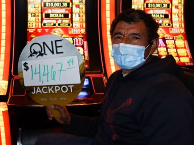 Juan A. won $14,467 playing 88 Fortunes at the Quil Ceda Creek Casino in Marysville North of Seattle.