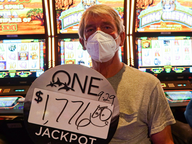Lewis L. won $1,776 playing King Cheetah at the Quil Ceda Creek Casino in Marysville North of Seattle.