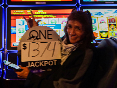 Pamela J. won $1,374 playing Wicked Winnings II at the Quil Ceda Creek Casino in Marysville North of Seattle.