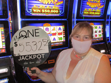 Susan H. won $5,532 playing Copper Dropper slot machine at the Quil Ceda Creek Casino.
