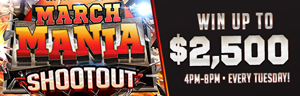 Quil Ceda Creek Casino Slots or Table Games March Mania excitement in Marysville