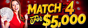 At Quil Ceda Creek Casino play Match 4 for $5,000 every Thursday in October - we are located just north of Lynnwood on I-5!