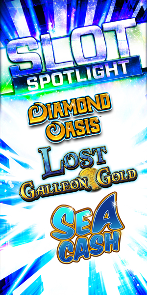 Play slots at Quil Ceda Creek Casino north of Bellevue and Seattle on I-5, like the exciting Diamond Oasis, Lost Galleon Gold and Sea Cash!