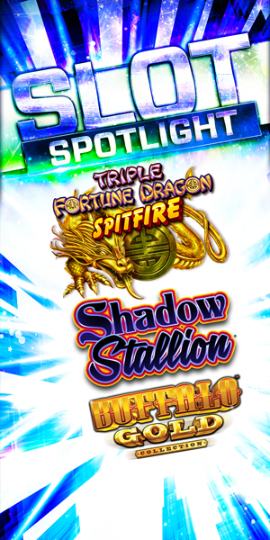 Play slots at Quil Ceda Creek Casino north of Bellevue and Kirkland on I-5 like Triple Fortune Dragon Spitfire, Shadow Stallion and Buffalo Gold!
