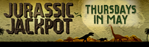 Enjoy Quil Ceda Creek Casino north of Bellevue and Edmonds on I-5 with Jurassic Jackpot drawings every Thursday in May - earn points to play!