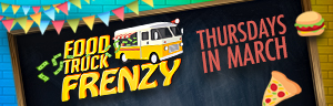 Play slots at Quil Ceda Creek Casino just north of Lynnwood and Edmonds on I-5, and enter Food Truck Frenzy every Thursday in March by earning 250 points!