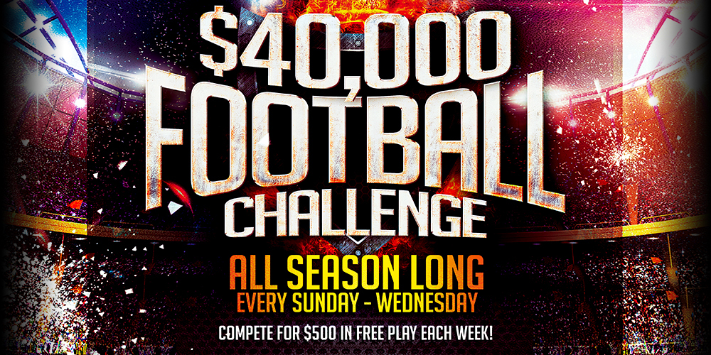 Join us for the $40,000 PRO FOOTBALL CHALLENGE at the Tulalip Resort Casino only 45 minutes from Seattle.