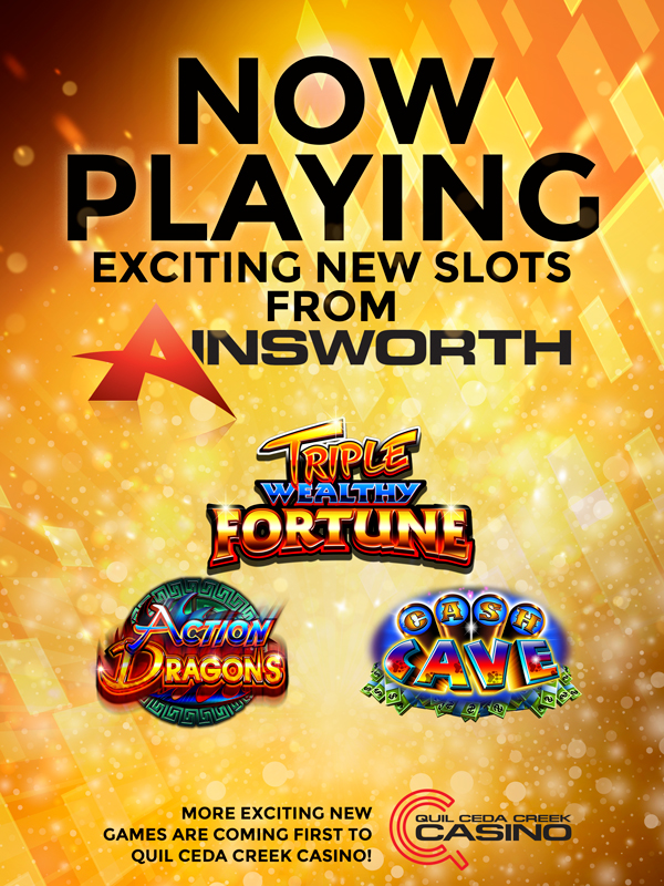 At Quil Ceda Creek Casino north of Seattle near Marysville, WA we have the latest Ainsworth slots!