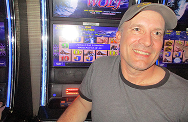 At Quil Ceda Creek Casino just north of Lynnwood near Marysville, WA on I-5 Christopher D. hit a big slots jackpot on Timber Wolf!