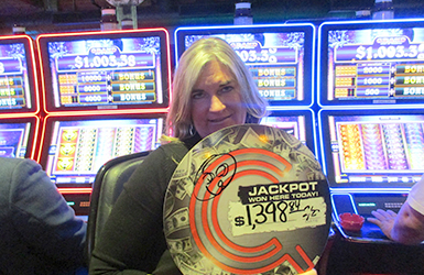 Win big at Quil Ceda Creek Casino just north of Lynnwood near Everett, WA on I-5 like Deana Y. on the Weird Wicked and Wild slot machine!