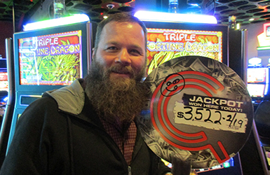 At Quil Ceda Creek Casino north of Seattle near Marysville, WA on I-5 Greg S. hit a big jackpot on the Triple Fortune Dragon slot machine!