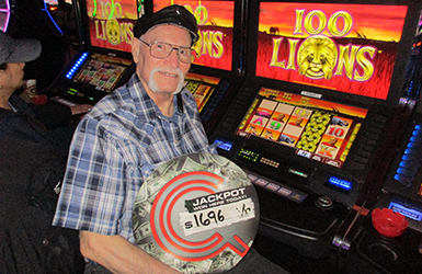At Quil Ceda Creek Casino just north of Mukilteo near Marysville, WA on I-5 John M. hit a big slots jackpot on 100 Lions!