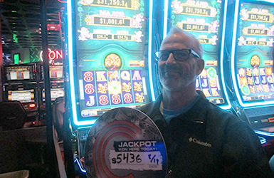 At Quil Ceda Creek Casino near Everett, WA on I-5 Mike H. hit a big slots jackpot on Tree of Wealth!