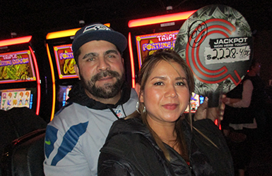At Quil Ceda Creek Casino just north of Seattle near Marysville, WA on I-5 Ramon M. hit a big jackpot on the Triple Fortune Dragon slot machine!