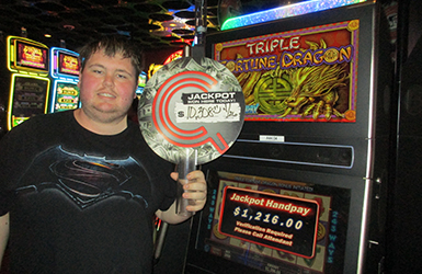 At Quil Ceda Creek Casino just north of Bothell near Marysville, WA on I-5 Sheldon M. hit some big jackpots on the Triple Fortune Dragon slot machine!