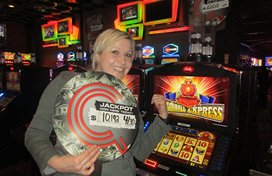 At Quil Ceda Creek Casino just north of Edmonds near Marysville, WA on I-5 Tatyana B. hit a big slots jackpot on Cannonball Express!