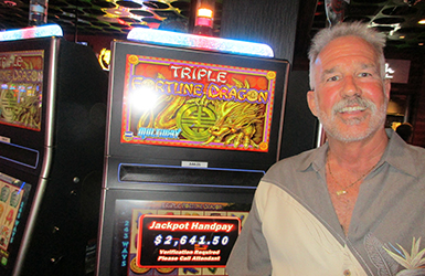 At Quil Ceda Creek Casino just north of Bellevue near Marysville, WA on I-5 Tullus G. hit a big jackpot on the Triple Fortune Dragon slot machine!