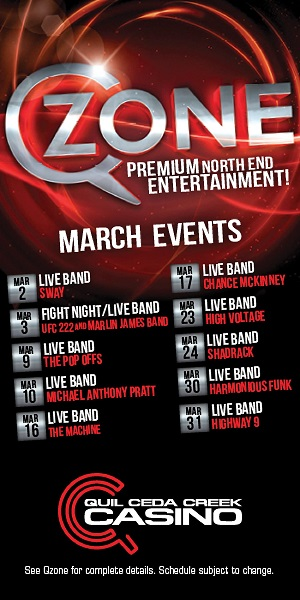 Quil Ceda Creek Casino near Marysville on I-5 is your place for pro sports and live music - in the Qzone!