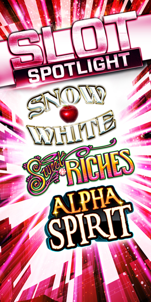 At QCC just south of Arlington near Everett, WA on I-5 we have the newest slots like Snow White, Sweet Riches, and Alpha Spirit!