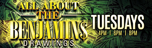 Play slots at Quil Ceda Creek Casino just north of Bellevue and Seattle on I-5 and enter the All About the Benjamins Drawings Tuesdays in January!