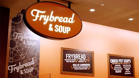 Check out the The Kitchen - Frybread and Soup and enjoy grilled sandwiches, homemade soups and frybread specialties at the New Quil Ceda Creek Casino located in Marysville!